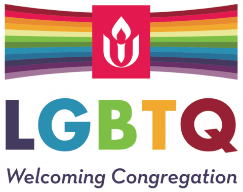 Welcoming Congregation rainbow logo (UUA) LGBTQ